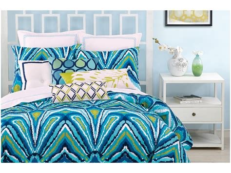 Trina Turk Blue Peacock Comforter Set King Shipped Free