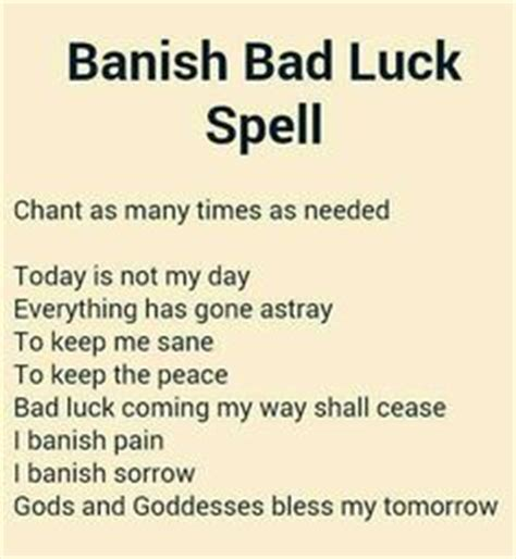 how to get rid of bad spirits inside you free spells to get rid of bad luck