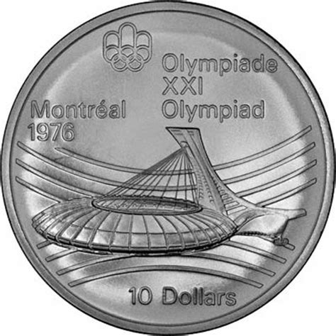 10 Dollar Silver Coin 1976 - canadian silver coins of the 1976 montreal olympics