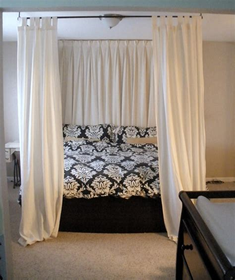make a bed canopy with curtain rods bed canopy diy simple yet fabulous ideas to use