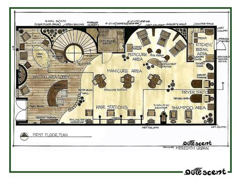 floor plan for spa portfolio by meredith urban van veen at coroflot com