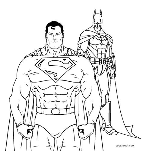 Superman And Batman Coloring Pages free printable superman coloring pages for cool2bkids