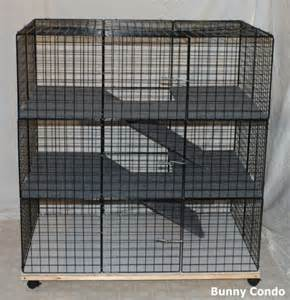 Cages For Rabbits New Indoor Large Bunny Condo Rabbit Cage Pen Hutch Ebay