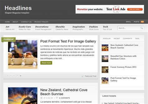 entertainment templates for blogger headlines blogger template 2014 free download