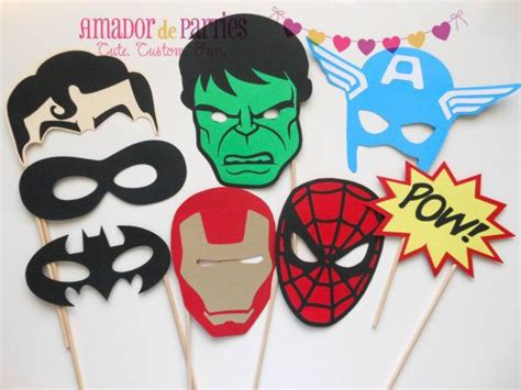 printable photo booth props superhero superhero photo booth props by amadordeparties on etsy