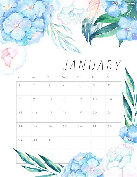 free printable 2017 floral calendar the cottage market