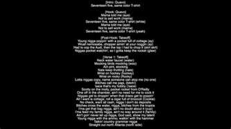 lyrics t shirt migos album culture