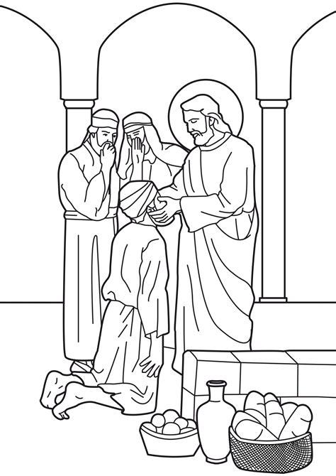 coloring page jesus heals deaf familia cat 243 lica vida p 250 blica de jes 250 s hermosas p 225 ginas
