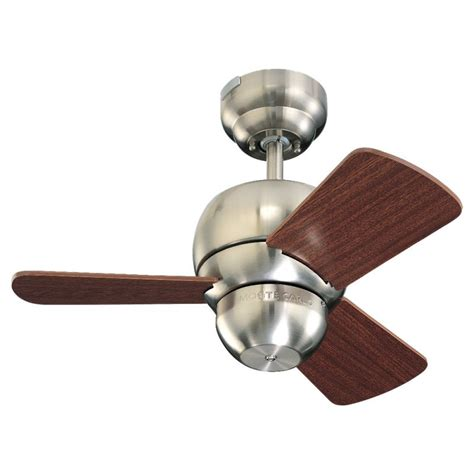 monte carlo mini ceiling fan monte carlo 3tf24bs brushed steel three bladed 24 quot mini