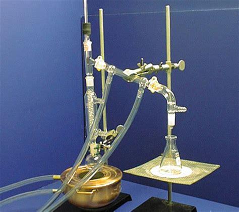 glass in fractionating column fractional distillation set up