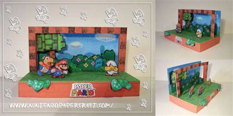 printable diorama instructions paper mario diorama nintendo papercraft