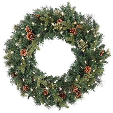 best outdoor battery or solar christmas garland lights pre lit battery operated wreath doliquid