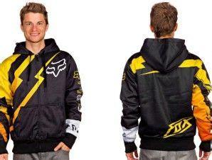 Hoodie Sweater Yellow Claw Logo Cloth logos racing and fox racing logo on