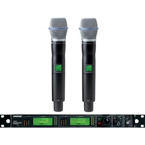Microphone Wireless Shure Ur 4dx shure uhf r dual channel uhf handheld wireless ur24d beta87a j5