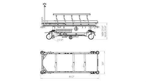 hnt  series hospital gurney powered stretcher