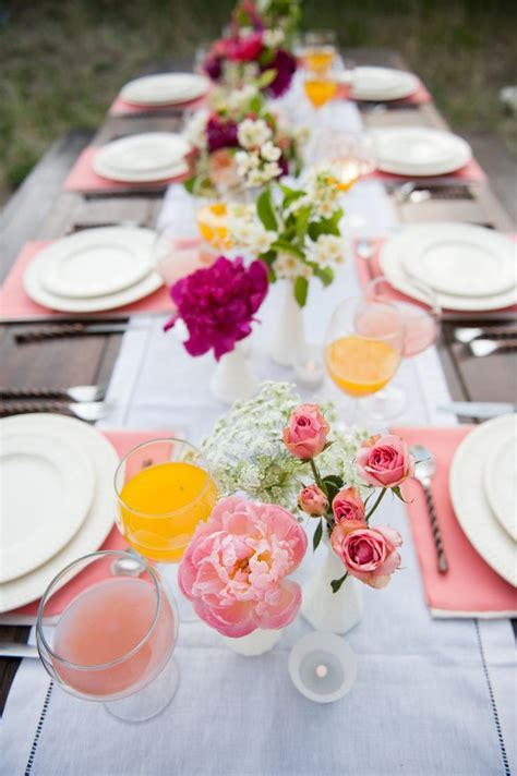 Pink for the table rustic wedding ideas   Fab Mood
