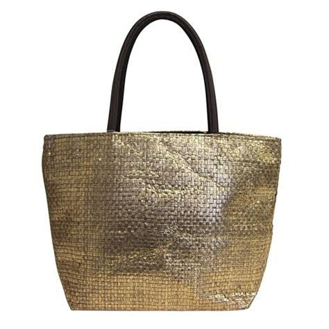 2394 metallic gold paper straw tote bag