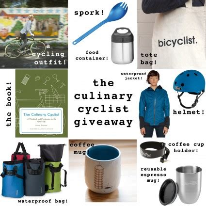 Good Giveaway Items - the culinary cyclist giveaway win a cookbook and over 500 of awesome bike and food