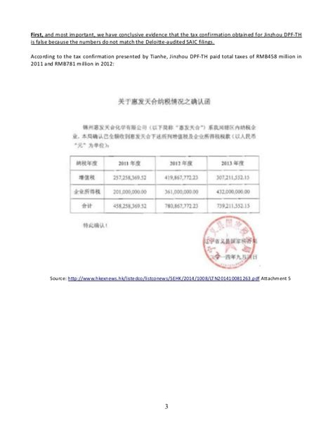 Confirmation Debt Letter Tianhe Open Letter To Auditor