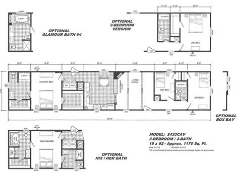 16x80 mobile home floor plans 28 images mobile home