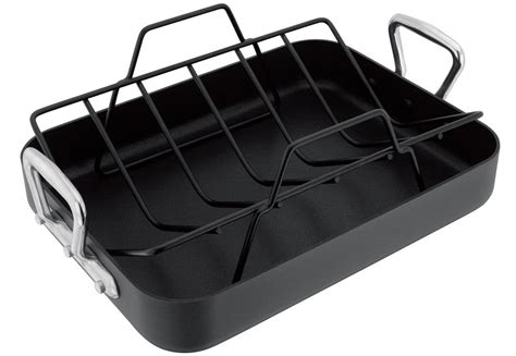 Roasting Pans With Racks by Stellar 6000 Anodised 36x27cm Non Stick Roasting Pan