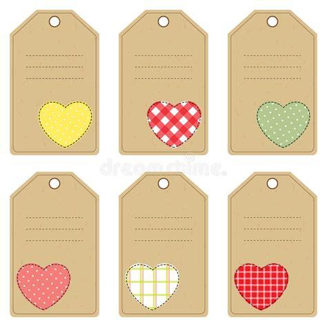 clipart san valentino etichette regalo per il san valentino illustrazione