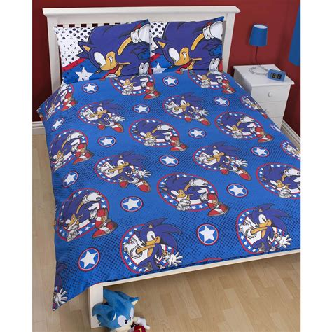 sonic bedding sonic the hedgehog sprint double duvet cover official new