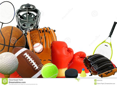 sports gears stock images image 2819154