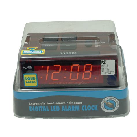 sharp digital alarm clock with large lcd display home