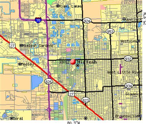 map hialeah florida 33012 zip code hialeah florida profile homes