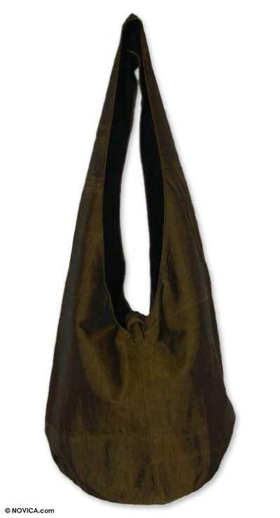 Triset Bag Tribes Sling Bag silk and cotton shoulder bag hill tribe chic novica