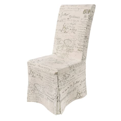 achica calligraphy loose cover chair slipcovers