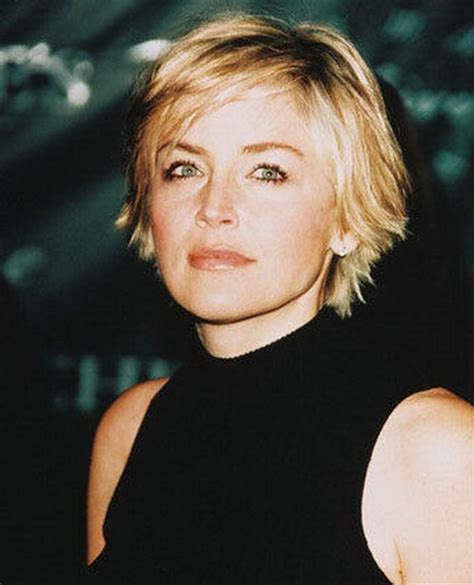 the back of sharon stines short bob sharon stone short hairstyles
