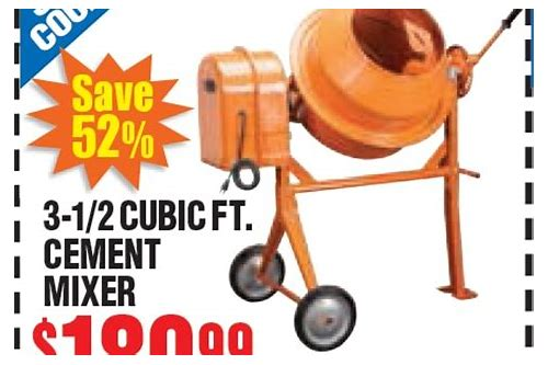 harbor freight tools cement mixer coupon