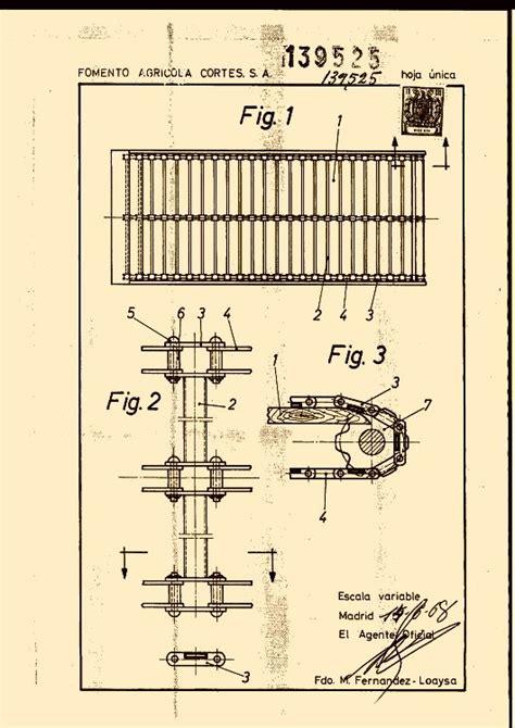 cadenas arrastre industriales fomento agricola cortes s a 18 patentes modelos y o