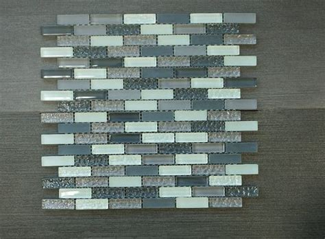 crystile grey 12in x 2in grey brown amp blue glass mosaic