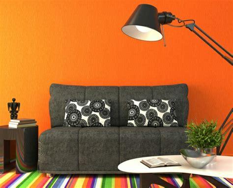 orange wohnzimmerwände wandfarben bilder 40 inspirierende beispiele