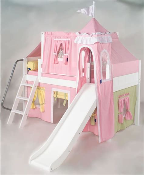 princess loft bed with slide pink green yellow princess castle bed with slide by