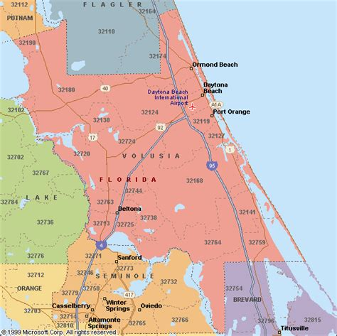 map of volusia county florida zip code map