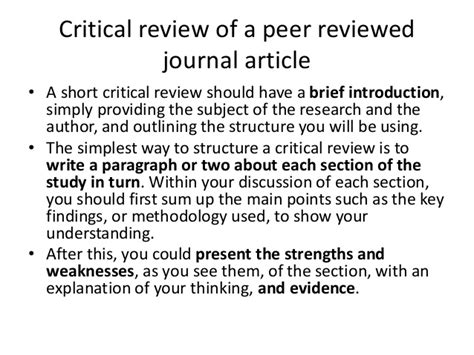 Writing Critical Review by Critical Writing