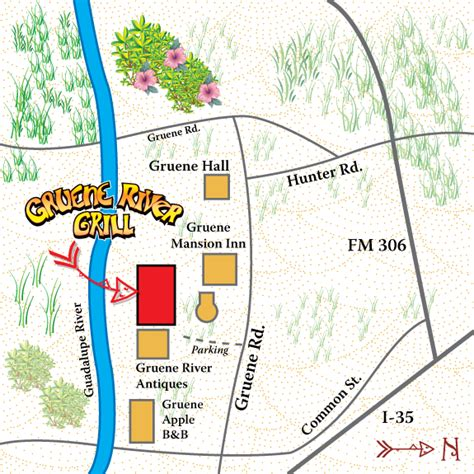 map of gruene texas location gruene river grill