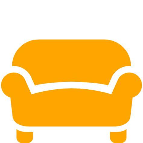 Free Orange Sofa Icon Download Orange Sofa Icon