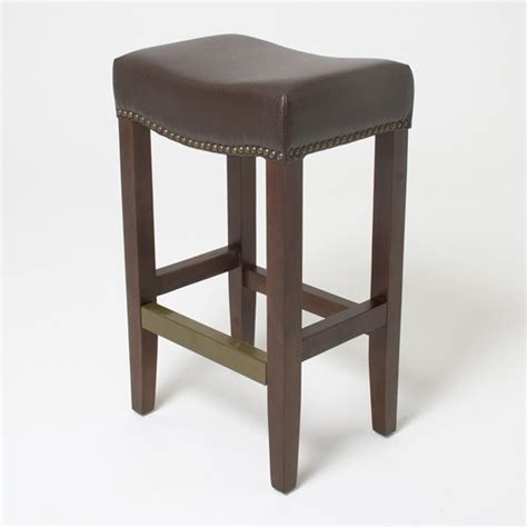 counter height padded saddle stools dining room saddle seat bar stool a classic flair in your