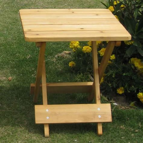 Small Patio Side Tables Convenient Wooden Folding Outdoor Garden Patio Small Folding Square Side Table Ebay