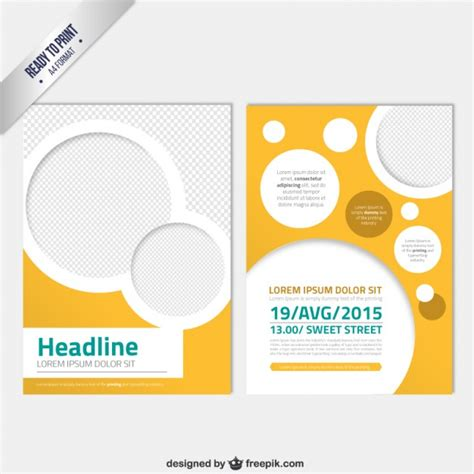 brochure photoshop template modern brochure template with circles vector free