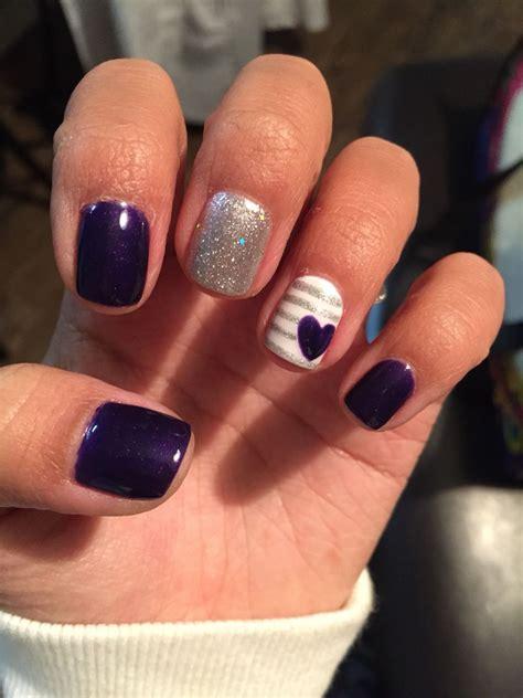 most popular purple gel nail color purple gel nails valentine s day nail purple love