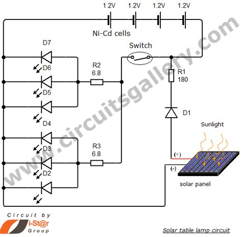 Simple Solar L Circuit by Simple Solar Table L Circuit For Your Home