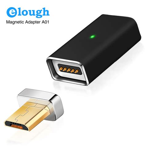 Kabel Charger Magnet Micro Usb Magnetic Cable elough adapter kabel charger magnetic micro usb black jakartanotebook