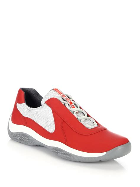 prada sneakers for prada leather sneakers in for lyst