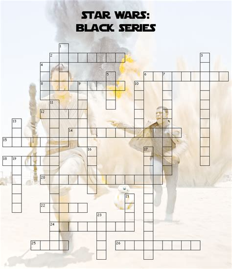 printable crossword puzzle star wars star wars black series crossword puzzle fun blog